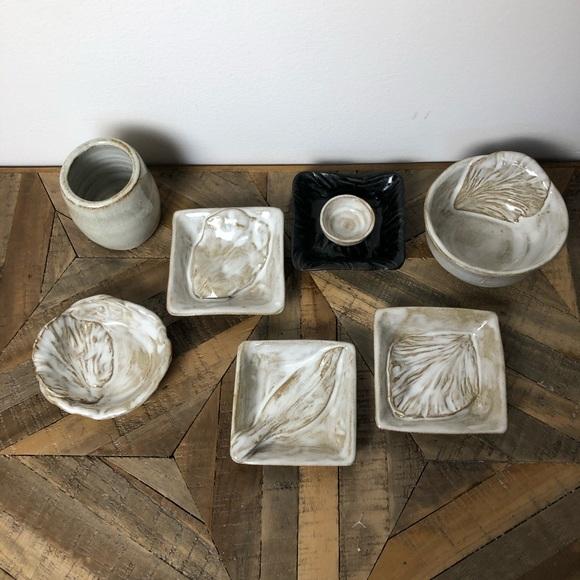 Studio Pottery Bundle Salt Cellars Sauce Dishes